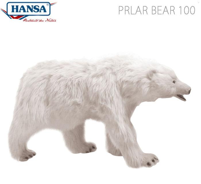 HANSA BH4446 ホッキョクグマ 100 PRLAR BEAR 100cm リアル ぬいぐるみ ハンサ しろくま シロクマ 白熊 白くま クリスマス 誕生日 プレゼント 動物 アニマル 置物 人形 フィギュア KOESEN ケーセン カロラータ 大きい マスコット 実物大 大型 4446