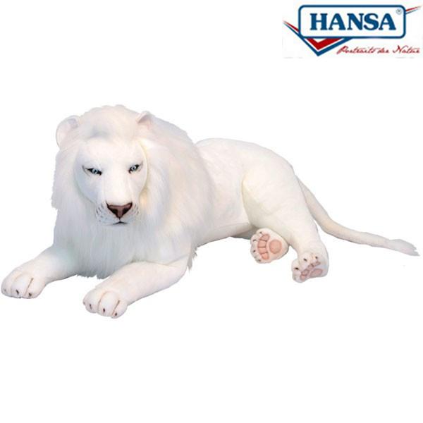 HANSA 5243 ホワイトライオン(オス)100 全長:100cm WHITELION  BH5243 ぬいぐるみ ハンサ クリスマス 誕生日 プレゼント 動物 犬 猫 鳥 うさぎ ペンギン アニマル 置物 人形 フィギュア KOESEN ケーセン カロラータ 大きい マスコット 実物大 大型