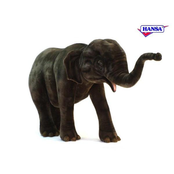 HANSA 5321 アジアゾウ180 全長:180cm ASIAN ELEPHANT BH5321 ぬいぐるみ ハンサ クリスマス 誕生日 プレゼント 動物 犬 猫 鳥 うさぎ ペンギン アニマル 置物 人形 フィギュア KOESEN ケーセン カロラータ 大きい マスコット 実物大 大型