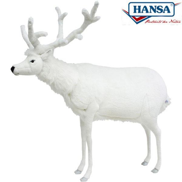 HANSA 5923 シロシカ150 全長:150cm WHITE DEER BH5923 ぬいぐるみ ハンサ 白鹿 鹿 バンビ クリスマス 誕生日 プレゼント 動物 犬 猫 鳥 うさぎ ペンギン アニマル 置物 人形 フィギュア KOESEN ケーセン カロラータ 大きい マスコット 実物大 大型