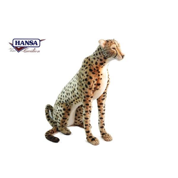 HANSA 6543 チーター110 全長:110cm CHEETAH JACQU SIT BH6543 ぬいぐるみ ハンサ クリスマス 誕生日 プレゼント 動物 犬 猫 鳥 うさぎ ペンギン アニマル 置物 人形 フィギュア KOESEN ケーセン カロラータ 大きい マスコット 実物大 大型
