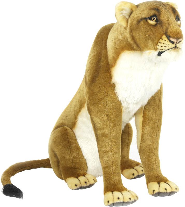 HANSA 6991 ライオン(メス)80 全長:80cm LIONESS SIT BH6991 ぬいぐるみ ハンサ クリスマス 誕生日 プレゼント 動物 犬 猫 鳥 うさぎ ペンギン アニマル 置物 人形 フィギュア KOESEN ケーセン カロラータ 大きい マスコット 実物大 大型
