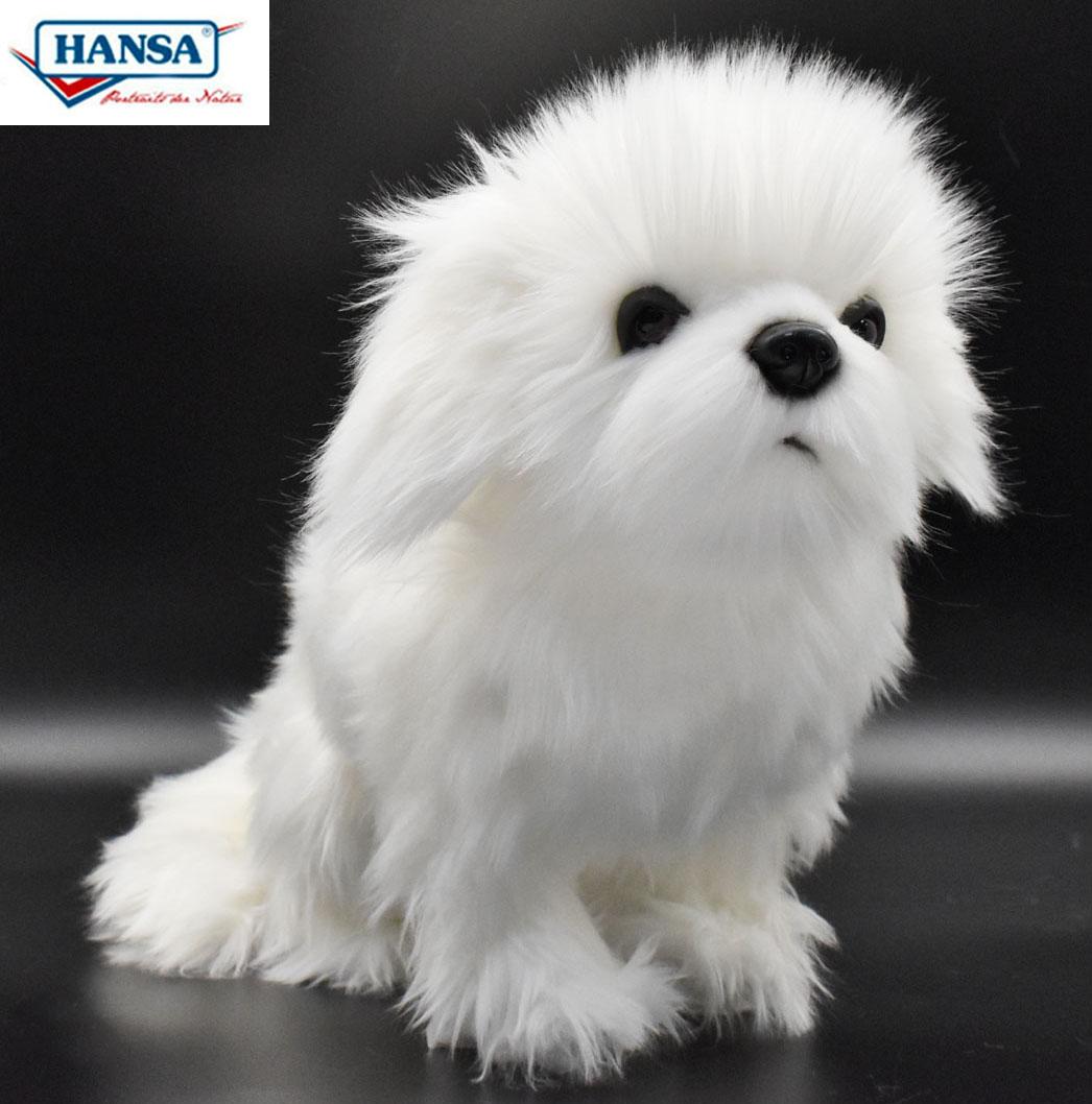 HANSA 7323 シーズー ホワイト 白 30cm SHIHTZU DOG WHITE BH7707 いぬ イヌ ぬいぐるみ ハンサ もふもふ クリスマス 誕生日 プレゼント 動物 犬 猫 鳥 うさぎ ペンギン アニマル 置物 人形 フィギュア KOESEN ケーセン カロラータ 大きい マスコット 実物大 大型