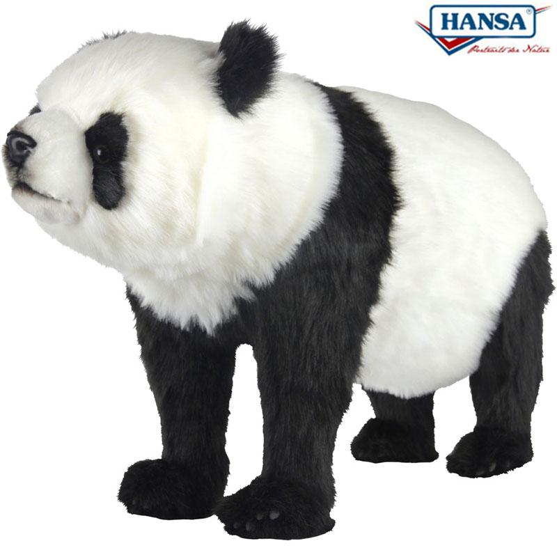 HANSA スツール パンダ 90 BH7547 PANDA BEAR ANIMAL SEAT 90cm 椅子 リアル ぬいぐるみ ハンサ クリスマス 誕生日 プレゼント 動物 アニマル 置物 人形 フィギュア KOESEN ケーセン カロラータ 大きい マスコット 実物大 大型 7547 熊猫