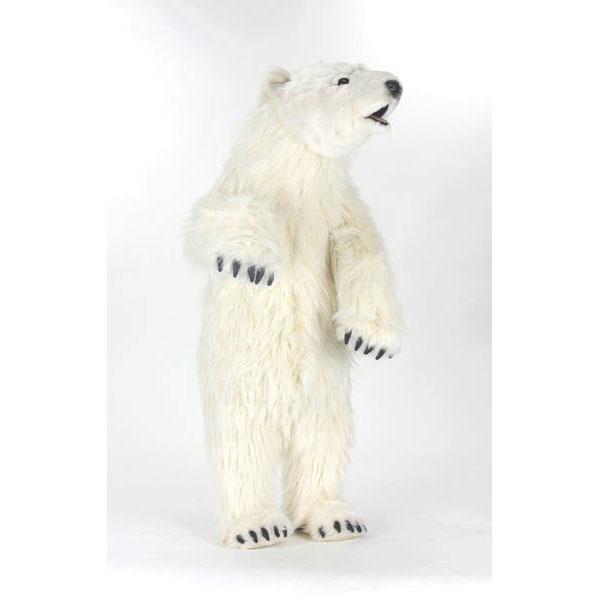 HANSA 子シロクマ100 H100(cm) 4486 白熊 しろくま 白くま 子熊 子グマ こぐま クマ 熊 ベア ベアー テディベア ぬいぐるみ ハンサ クリスマス 誕生日 プレゼント 動物 犬 アニマル 置物 人形 フィギュア KOESEN ケーセン カロラータ 大きい マスコット 実物大 大型
