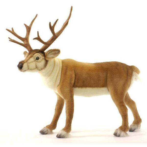 HANSA 北欧シカ60 L60(cm) 5373 ぬいぐるみ ハンサ 白鹿 鹿 バンビ クリスマス 誕生日 プレゼント 動物 犬 猫 鳥 うさぎ ペンギン アニマル 置物 人形 フィギュア KOESEN ケーセン カロラータ 大きい マスコット 実物大 大型
