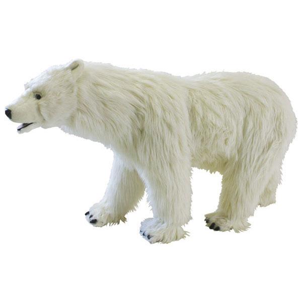 HANSA スツールシロクマ110 L110(cm) 6085 白熊 しろくま 白くま クマ 熊 ベア ベアー テディベア ぬいぐるみ ハンサ イス 椅子 腰掛け 乗用玩具 誕生日 プレゼント 動物 犬 猫 鳥 アニマル 置物 人形 フィギュア KOESEN ケーセン カロラータ 大きい 実物大 大型
