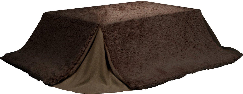 省スペース こたつ布団 長方形 kk-515br ブラウン 茶色 W215×D185cm 天板サイズ105×75以下 薄掛コタツ布団 楕円形 対応 掛ふとん 上掛け こたつ コタツ 炬燵