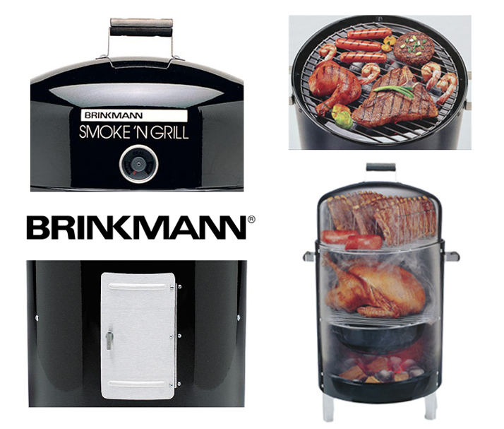 BRINKMANN ブリンクマン COOK'N CA'JUN II CHARCOAL SMOKER & GRILL 흡연 자 그릴 bsg