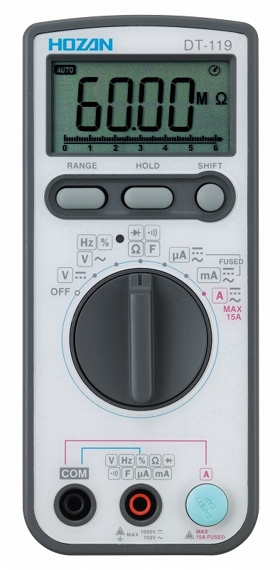 デジタルマルチメータ HOZAN ホーザン DT-119-TA