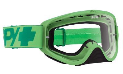 SPY スパイ WOOT MONO GREEN - CLEAR AFP /ゴーグル モトクロス バイク スノーボード スキー スノボ レンズ ストラップ サングラス アイウェア おしゃれ ブランド ヘルメット シールド mxゴーグル