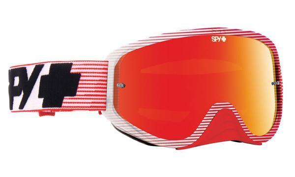 SPY スパイ WOOT RACE RED FLASH - SMOKE w/ RED SPECTRA + CLEAR AFP /ゴーグル モトクロス バイク スノーボード スキー スノボ レンズ ストラップ サングラス アイウェア おしゃれ ブランド ヘルメット シールド mxゴーグル