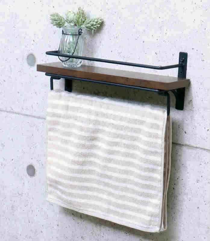 【SIGNO】タオル掛けハンガー 木製 アンティーク ウッド カバー 台 スタンド ステンレス アイアン 棚 スチール サニタリー 洗面台 トイレ
