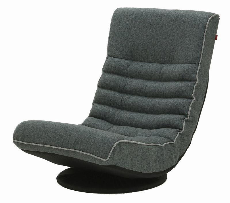 【Harmonia】リラックスフロアチェア(GY) グレー ポケットコイル入り リクライニング 座布団 座椅子 座イス 座いす チェア チェアー ゆったり リビング 一人掛け ソファ 椅子