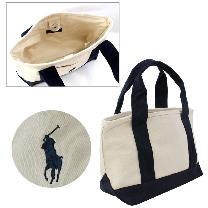 8126369082d ... Polo Ralph Lauren bag Tote pony embroidered hand tote bag size CANVAS  TOTE SM SM canvass ...