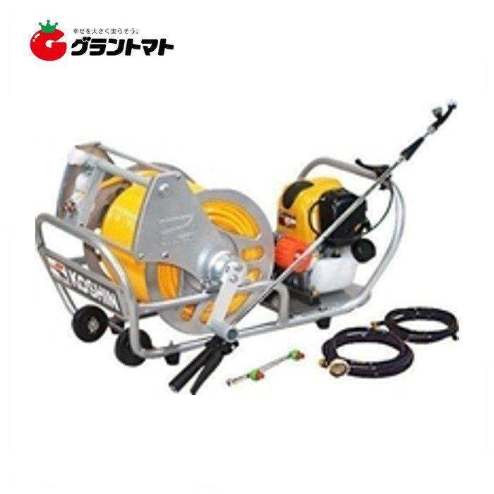 ガーデンスプレーヤー MS-ERH100 6φホース100m+ホースリール付 エンジン動噴 工進 【取寄商品】