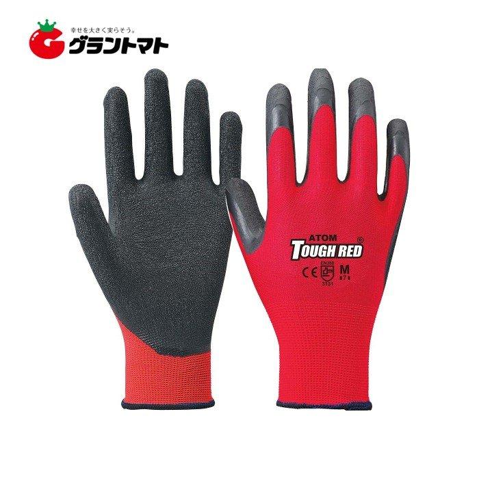 タフレッド 激安超特価 40%OFFの激安セール #1470 赤 アトム 天然ゴム手袋 Mサイズ