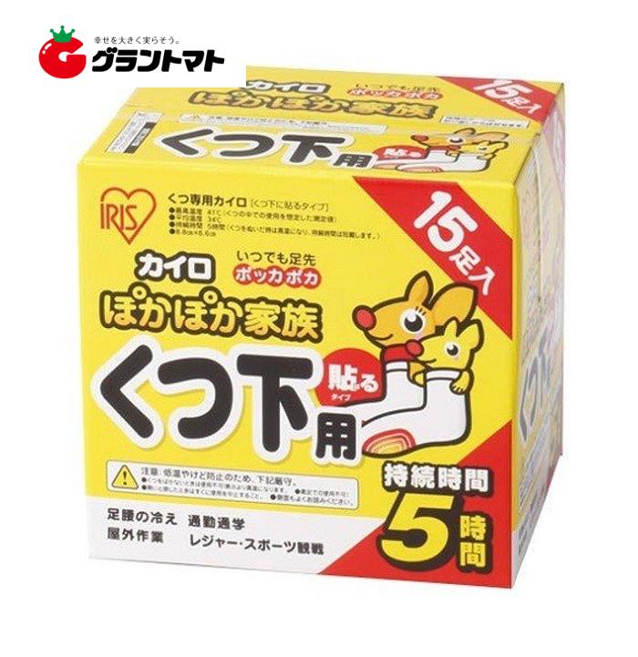 ぽかぽか家族 貼るくつ下用 箱売り240個入り(15足分×16箱) 靴下用カイロ アイリスオーヤマ
