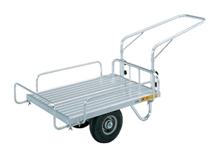 昭和 HC-2S (2輪車) アルミ台車 アルミ二輪車 アルミキャリー 運搬車 【150キロ積載】 【メーカー直送・代引不可】