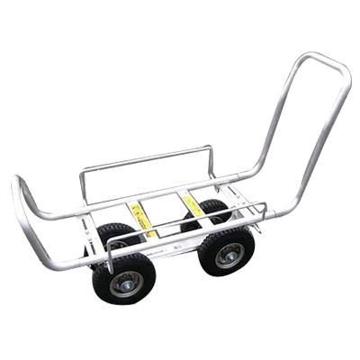 昭和 S10-A2 (4輪車) アルミ台車 アルミ四輪車 アルミハウスカー 運搬車 台車 【100キロ積載】 【メーカー直送・代引不可】
