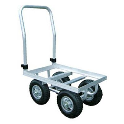 アルミス アルミポーターN型 アルミハウスカー (4輪車) 【50キロ積載】 【 ホイール式運搬車】 【 アルミ台車】 【 ハウスカー】 【代引不可】
