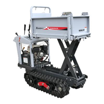 アテックス 石材用 クローラー運搬車 力石 XS400LDH 【油圧リフトorダンプ】【最大積載量400kg】 atex クローラ