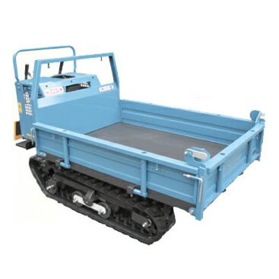 マメトラ クローラー運搬車 SC55X1 【最大積載量:500kg】 【手動ダンプ式】 【三方開閉式ドア】 【代引不可】