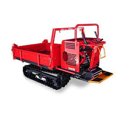 ウインブルヤマグチ クローラー運搬車 AM55WX-1 【三方開閉式ドア】 【手動ダンプ】 【500kg積載】 【横ドア水平ロック】