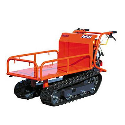 ウインブルヤマグチ クローラー運搬車 PM40 【三方パイプスライド式】 【手動ダンプ】 【400キロ積載】 動力運搬車