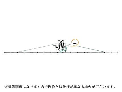 【ノズル・噴口】ヤマホ 中持ブームG型18頭口新広角スズランタイプ(G3/8)【噴霧器・噴霧機・動噴・防除用】