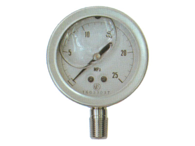 【永田】グリセリン入圧力計(オールステンレス製)60mm×16MPa(PT1/4)