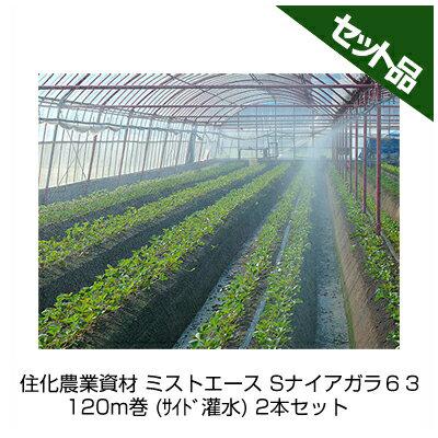 住化農業資材 ミストエース Sナイアガラ63 120m巻 (サイド灌水) 2本セット 潅水チューブ 灌水チューブ