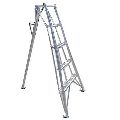 【代引不可】【お届けにお時間をいただく場合がございます】 アルミ 三脚 5段(5尺・高さ約150cm) 農業 園芸用 脚立