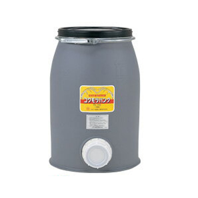 穀物貯蔵容器 コダマ樹脂 コクモツバンク PO-75G【個人宅配送不可(法人名でご注文ください)・代引不可】