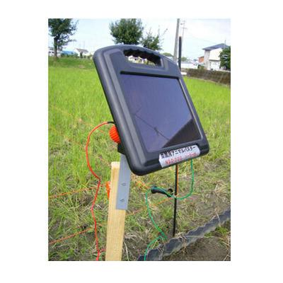ニシデン産業 家庭菜園用 電気柵 アニマルバスター NSD-200B ソーラー 100m×2段張りセット(出力テスター付)