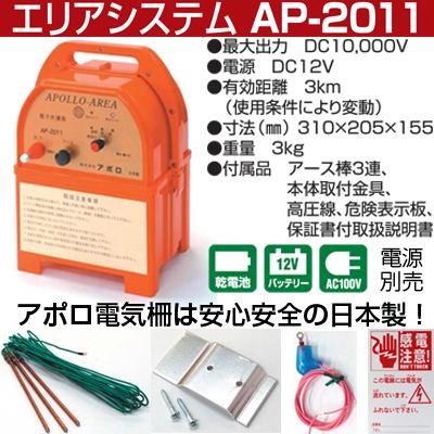 セット 400mX4段張り 電気柵 小動物用 アポロ FRP支柱φ14mm