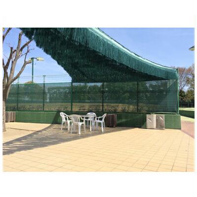 ダイオ化成 懸垂型遮光資材 モスグリーン フララ オーロラ 60cm×50m 防炎