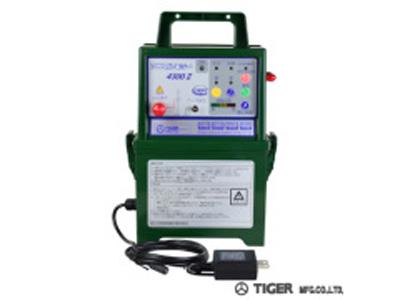 タイガー アニマルキラー 電気柵 本器 4300DC2-AD(屋内型)(ACアダプタータイプ) 電気さく 電柵 電気牧柵