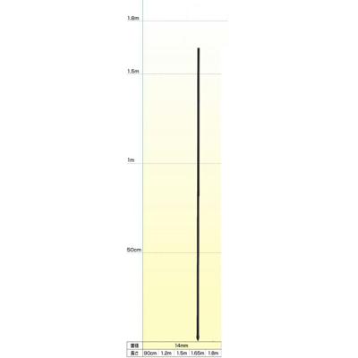 末松電子 電気柵 資材 FRPポール 50本入 【直径14mmX1.65m】 電柵支柱 電気柵支柱 FRP支柱 FRP製支柱