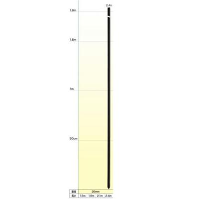 末松電子 電気柵 資材 FRPポール 50本入 【直径26mmX2.4m】 電柵支柱 電気柵支柱 FRP支柱 FRP製支柱