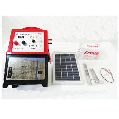 ニシデン産業 電柵機 本体 アニマルバスター NSD-5 【ソーラーパネル付・内部バッテリーコード 付・シールドバッテリー付】