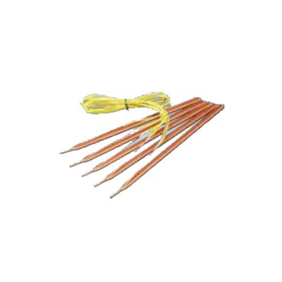 2020年1月8日より順次発送予定 末松電子 電気柵 資材 アース棒45型 (5本組) 電柵資材 電気牧柵資材