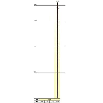 末松電子 電気柵 資材 ゲッターパイル 26mmX2.4m 【20本入】 樹脂被膜鋼管支柱 電柵支柱 電気柵支柱 ポール