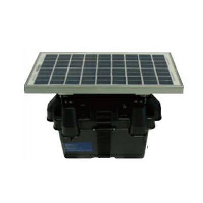 【受注生産:納期約2週間】 ニシデン産業 電気柵本体 アニマルバスター KD-5000 (12Wソーラーパネル、12V28Ah鉛蓄電池 標準装備)