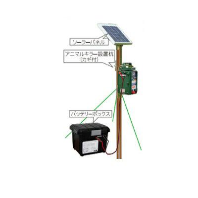 2020年5月11日より順次発送予定 タイガー 電気柵 資材 TBS-SUSLDXS 設置杭ソーラーセットDX デラックス バッテリーチェッカー付 TAK-SS-BAD (本体別売)