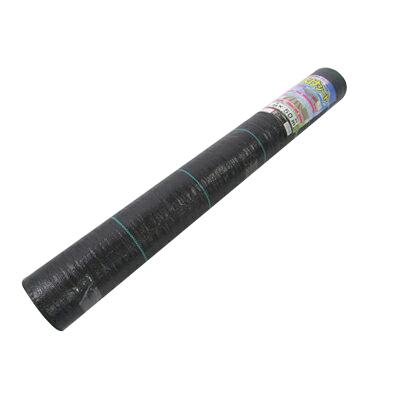 シンセイ 防草シート 草よけシート (抗菌剤入) サイズ:幅1.5m×100m (2本入) ライン入