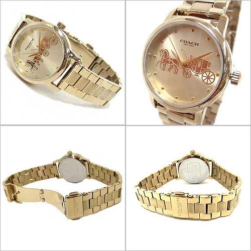 b64307fd2804 コーチ 時計 レディース スニーカー COACH コーチバック アウトレット マディソン グランド クォーツ ゴールド 腕時計 14502976  n81011:セレクトAG コーチ 腕時計 ...