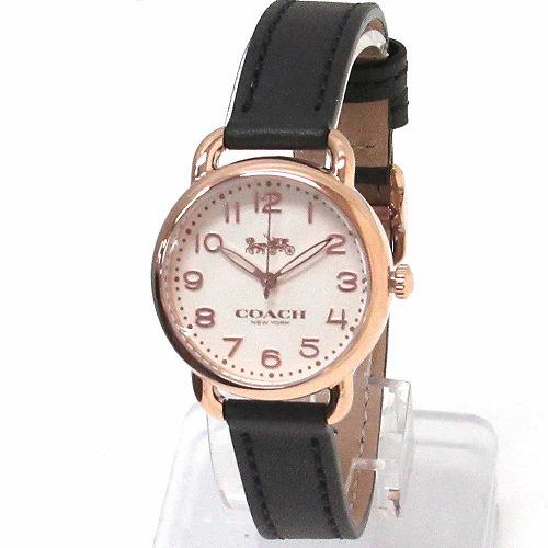 コーチ 時計 レディース COACH アウトレット デランシー レディース ウォッチ イエローゴールド/ネイビー 腕時計 14502749