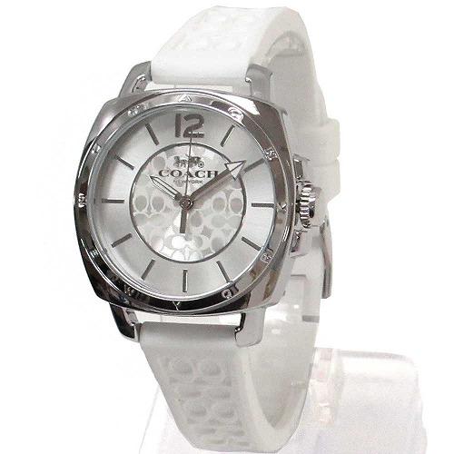コーチ 時計 レディース COACH アウトレット Boyfriend ボーイフレンド ホワイト シリコン 腕時計 14503146