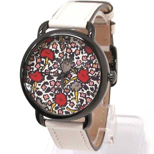 コーチ 時計 レディース COACH アウトレット デランシー フローラル アイボリー レザー 腕時計 14502729